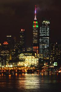 NY Skyline Christmas Colors