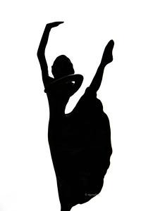 Dance Figure  in Silhouette