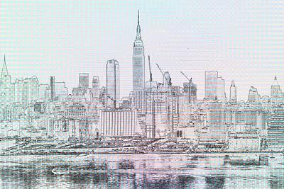 NY Skyline-Digital Art Sketch