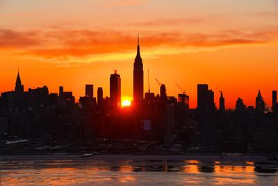NY Skyline at Sunrise