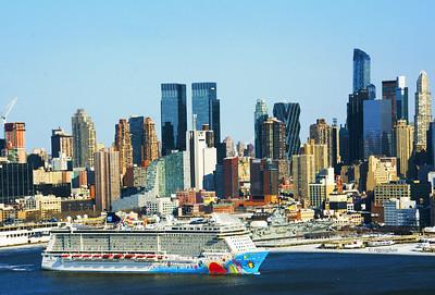 NYC Cruise Ship Departing