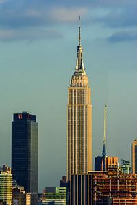 Day 028: NY Skyline Sundown - Jan 28.  Empire State Building at Sundown.