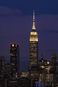Day 026: NY Skyline Empire State Building Night - Jan 26.