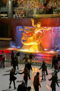 Day 005: NY-Rockefeller Center Prometheus and Skaters - Jan 5.