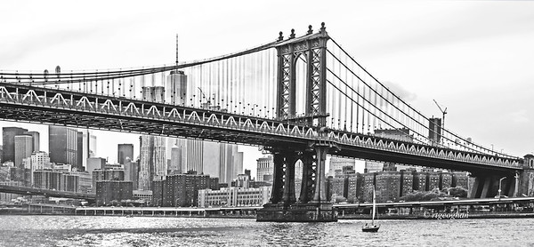 Day 194: NYC-Manhattan Bridge with 1 World Trade in background - July 14