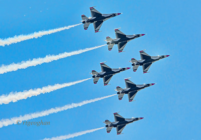 Day 142: US Air Force Thunderbirds NYC - May 22.  Happy Memorial Day weekend!!   A shot of six U.S. Air Force F-16 Thunderbirds in the skies over the Hudson River as part of a flyover around New York City. Thanks to all who commented on my USS San Antonio in NYC posts.