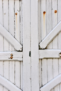 Weathered White Gate