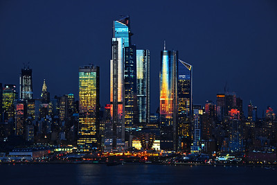 NYC Night Lights on BLue