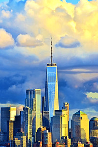 Freedom Tower and Sundown Skies