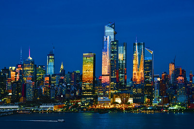 NYC Blue Hour Colors and Lights