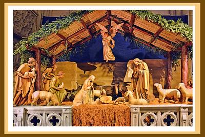Nativity Scene St Patrick's Cathedral NYC