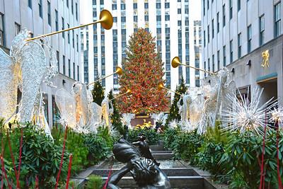Rockefeller Center Gardens and Crhistmas Tree