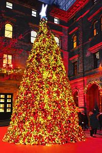 Christmas Tree Lotte Palace Hotel NYC