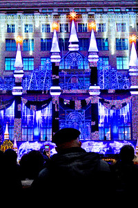 Saks Holiday Show in Blue