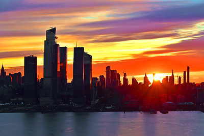 NY Skyline Saturday Sunrise