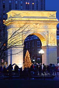NYC Chsitmas-Washington Square Park