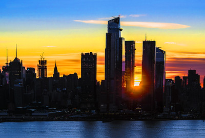 Sunrise View Hudson Yards NYC