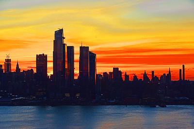 Manhattan Tri-color Sunrise