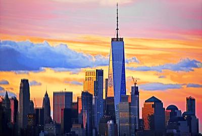 Free Tower Painted Sunrise
