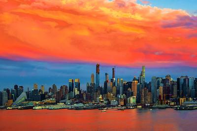NYC Framed in Orange