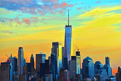 Sundown Skies over Lower Manhattan