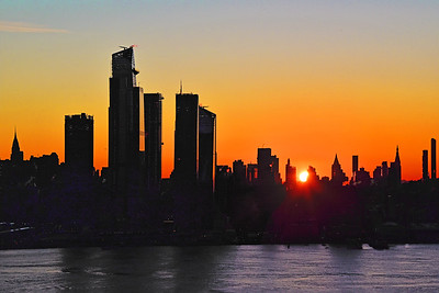 NYC Silhouette at Sunrise