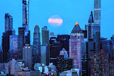 NY Skyline Moonlit Blues