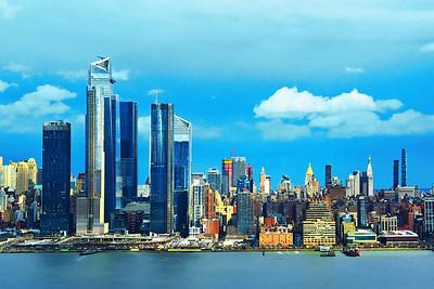 New York City under Blue Skies