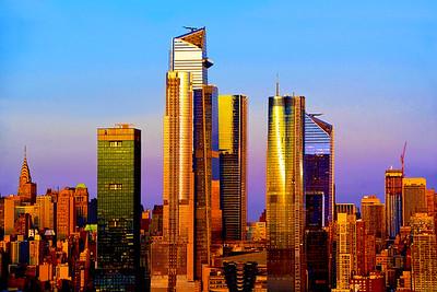 New York Skyscraper Sundown