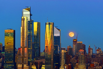 NYC Sunrise and Flower Moon