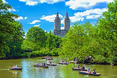 Central Park Lake Rowboats