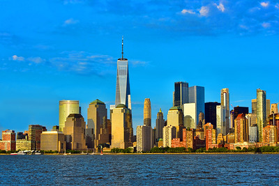 Lower Manhattan Sundown Cityscape