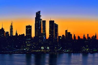 NY Skyline Moments Before Sunrise