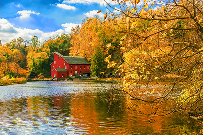 N.J.  Red Mill framed in Gold