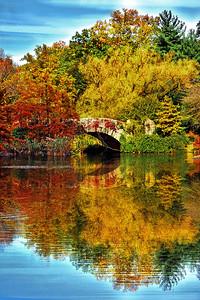 Fall Foliage Reflecions at Gapstow Bridge NYC