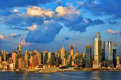 Manhattan under Sundown Clouds