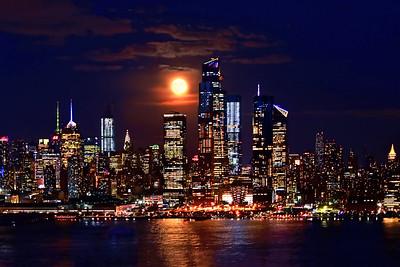 NYC September Harvest Moon #4