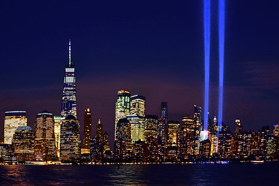 NYC Tribute in Lights-September 11 Anniversary