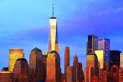 Freedom Tower Scene at Sundown