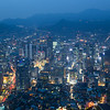 Seoul city nightscape