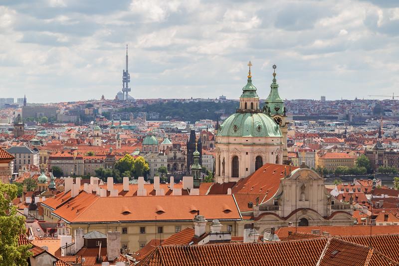 Mala Strana district in Prague at day