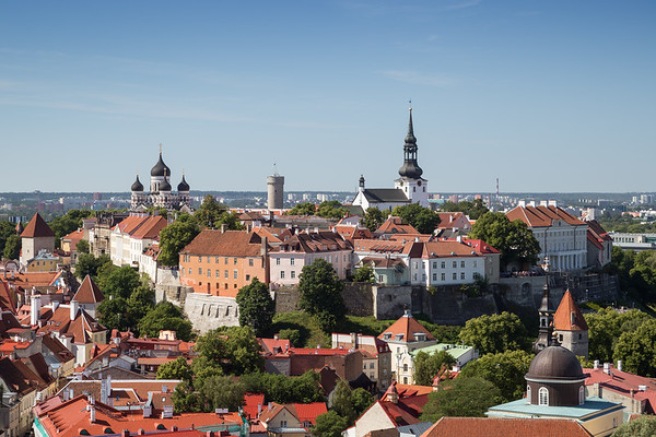 View over Old Town in Tallinn