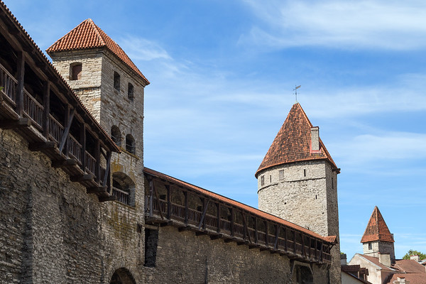 City wall at the Old Town in Tallinn