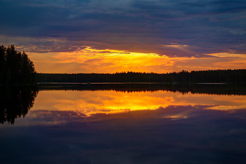 Sunset in Finland