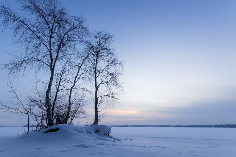 Morning at the Lake Pyhäjärvi
