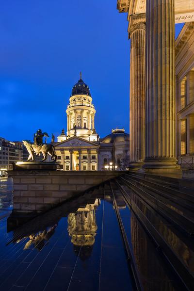 Deutscher Dom and Konzerthaus Berlin at dusk