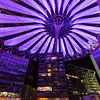 Sony Center at Potsdamer Platz in Berlin at night