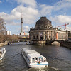 Tour boats and Bode Museum in Berlin