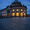 Bode Museum in Berlin at dusk