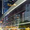 Night lights in Hong Kong Island